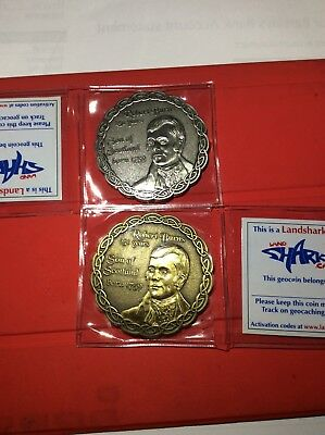Robert Burns Limited Edition Geocoins Set of 2 Coins