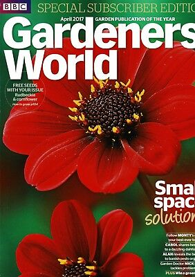 BBC Gardeners World April 2017  ~ Special Subscriber's Edition