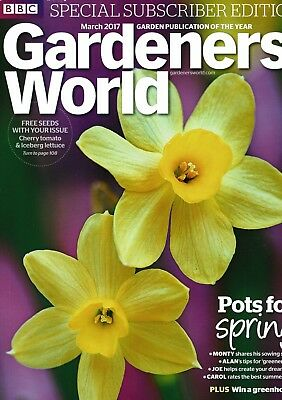 BBC Gardeners World March 2017  ~ Special Subscriber's Edition