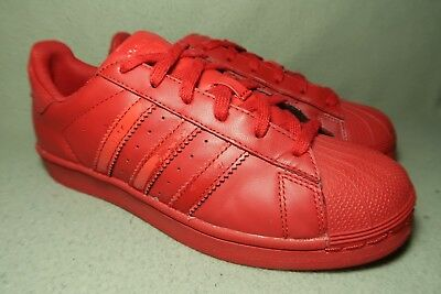 check out 40dd6 42270 ADIDAS SUPERSTAR X PHARRELL WILLIAMS SUPERCOLOR J - RED Trainers UK 5/EU 38