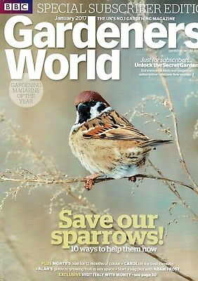BBC Gardeners World January 2017  ~ Special Subscriber's Edition
