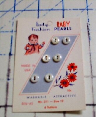 Vintage mother of pearl buttons sewing quilting heirloom sewing