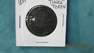 1837 Hard Times token, good circulated condition