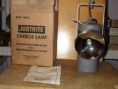 Miners/Cavers JUSTRITE 3-204 HAND CARBIDE LAMP-NEW/OLD STOCK!