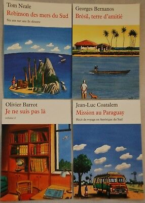 lot  4 cartes Postales  - illustrations de LOUSTAL - Editions de la Table Ronde
