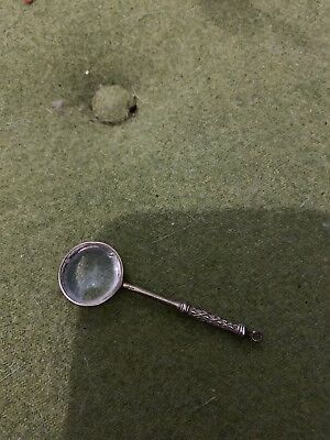 Vintage Continental Solid Silver Magnifying Glass