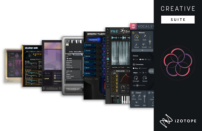 New iZotope Creative Suite Upgrade from Creative Bundle 1 AAX/RTAS/VST/AU Mac/PC
