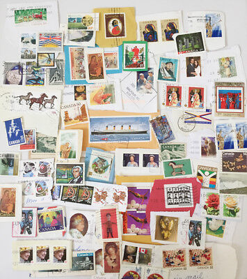 CANADA Canadian Kiloware Stamps on Paper 78 GRAMS A003