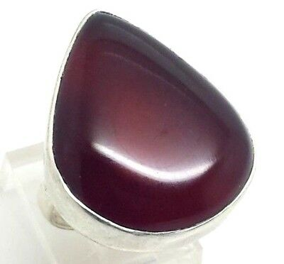 Stunning Design Pear Red Onyx Sterling Silver 925 Ring 9g Sz6.25 SH771