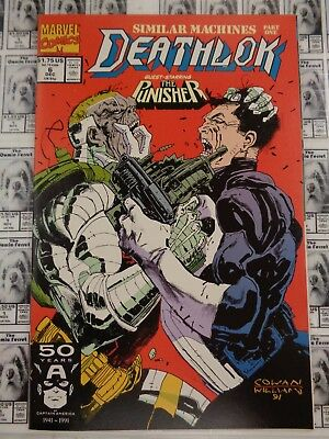 Deathlok (1991) Marvel - #6, Father's Anguish, Punisher App, Wright/Cowan, VF