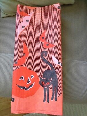 Vintage Mid-century Halloween tablecloth 1960's