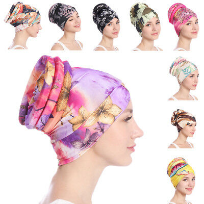 Muslim Women Turban Hat Chemo Cap Hair Loss Cover Head Scarf Wrap Hijab Headwear