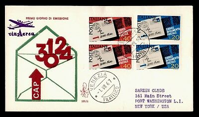 DR WHO 1967 ITALY FDC POSTAL CODE ANNIV CACHET COMBO  d84925