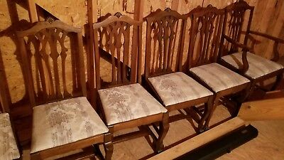 Antique Chippendale Style Mahogany Claw Feet Dinning Room Chairs (6)