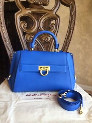 7d94c6fc0ed SALVATORE FERRAGAMO SOFIA Satchel Grainy Leather Large -  299.99 ...