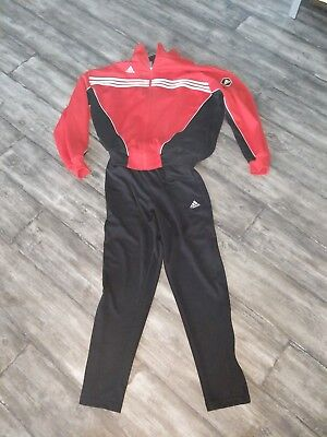 Adidas Red And Black Soccer Tracksuit Climate Men's XL