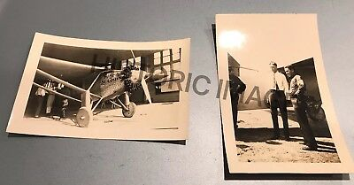 TWO PHOTOS Charles Lindbergh, And Spirit Of St.Louis. (original)?