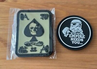 PVC Klett Patch / Patches (Star Wars, Ace of Spades)