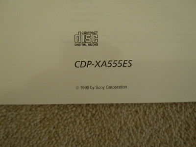 Sony Cdp-Xa555Es Cd Player Book Buch Booklet User Manual Instructions