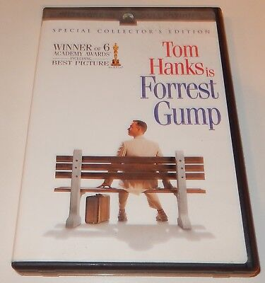Forrest Gump - Tom Hanks (DVD, 2001, 2-Disc Collector's Edition) WS
