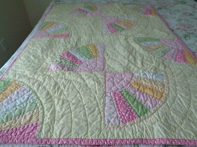 multicolored handmade baby quilt