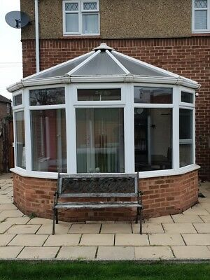 lovely used double glazed white upvc conservatory - DISMANTLE AND COLLECT ONLY