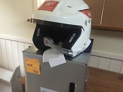 BNWT Sparco Rally Helmet with Intercom Hans Large Silverstone