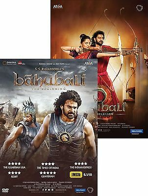 Bahubali 1 & 2 (The Complete Collection) (DVD) (Hindi) (Baahubali)(All)(New)