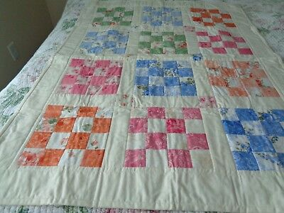hand made machine quilted baby quilt