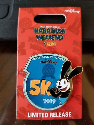 Run Disney 2019 Walt Disney World Marathon Weekend Oswald 5k Pin 3.1