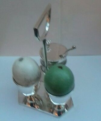 Dresser Style Silver Plated Egg Cruet, New Old Stock. Great Breakfast Item.