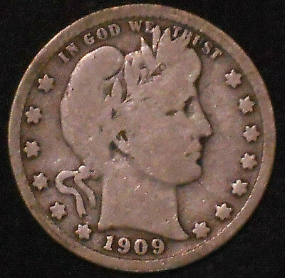 1909-D Barber Silver Quarter.  Free Shipping!!!!!!!!!!!!!!