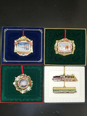 White House Historical Association Lot  of 4 Christmas Ornaments, 2010,11,13,14