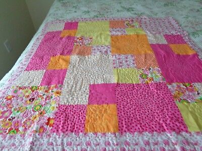 multicolored baby quilt