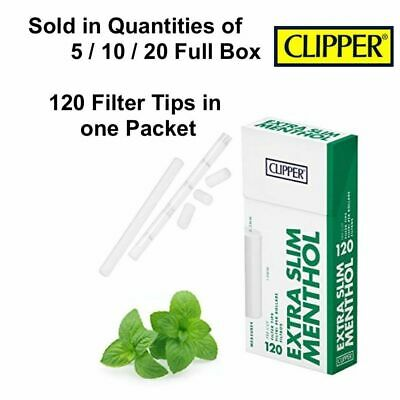 Clipper Extra Slim Menthol Pre Cut Smoking Rolling Cigarette Filter Tips