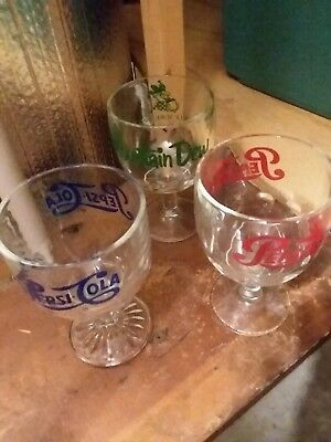Pepsi Cola And Mountain Dew Goblets
