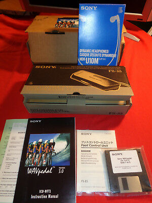 Sony WAV Pedal FS-85 - ICD-WFT1 Kit New Open Box