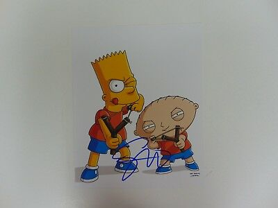 """""""The Simpsons"""" Seth MacFarlane Hand Signed 8X10 Color Photo Todd Mueller COA"""