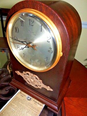 Telechron Revere Rare M-31 1925 Westminster Rod Chime Electric Mantle Clock EXC