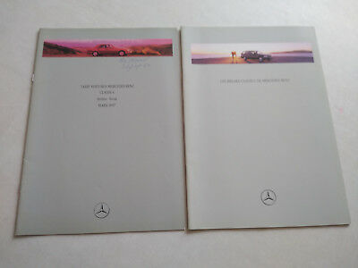 Catalogue publicitaire Mercedes Classe C break 1996 + tarif en français