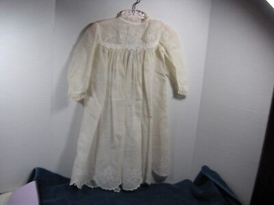 Victorian Antique Child's Christening dress White Edwardian Embroidered doll 32""