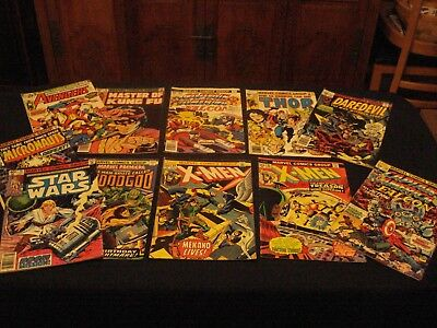 "11 Mixed Lot Vtg Marvel Comics ""super Heros"" Years 1973,1975, 1976, 1977, 1979"