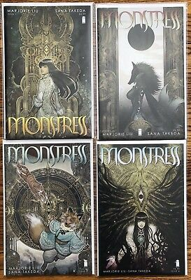 Monstress, By Marjorie Liu and Sana Takeda Issues 1-18