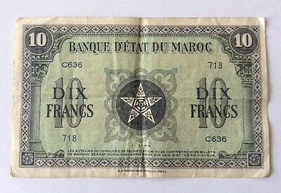 Morocco 10 Francs 1944  Note