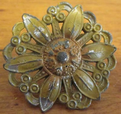 Vintage Ornate Cast Metal Curtain Tie Back Tac