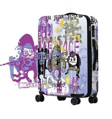 D251 Fashion Style Universal Wheel ABS+PC Travel Suitcase Luggage 24 Inches W