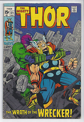 THOR #171: Silver Age Marvel Comic: Dec 1969: The Wrath of the Wrecker: FN+: