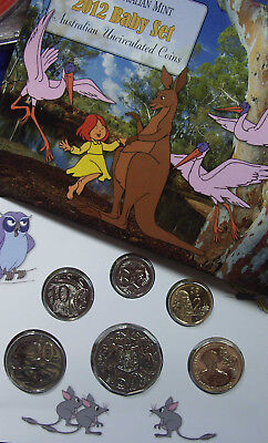 Australia RAM 2012 Uncirculated Baby Mint Coin Set with Ethil Pedley  $1 + medal
