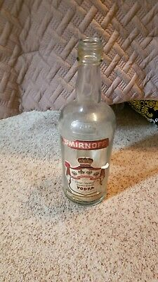 Vintage Glass Smirnoff Vodka Bottle Large 1 Gallon