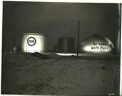 Original Vintage Pure Oil Company Black and White Photo - Free Shipping